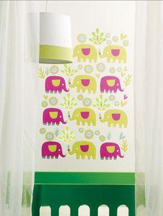 Elephants wall decals