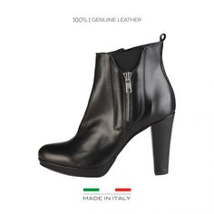 100% MADE IN ITALY - - Bottines pour femme