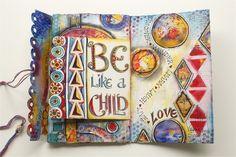 Valerie SJodin, Be Like a Child journal page, web