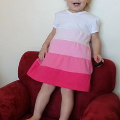A tiered toddler dress. I think I want to make this with the seams on the outside and with a tank top.