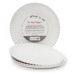 Instead of buying those flimsy disposable paper plates for your next party use these virtually unbreakable faux replicas!  sc 1 st  Pinterest & These popular reusable paper plates are in stock and ready for ...