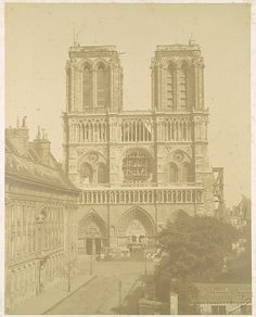 Bisson Frères (French, active 1852–1863). Notre Dame, Paris, 1850s. The Metropolitan Museum of Art, New York. The Elisha Whittelsey Collection, The Elisha Whittelsey Fund, 1949 (49.40.83)