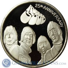 The Beatles Rubber Soul  Well, a rubber hand would not be useful.  http://www.gainesvillecoins.com/submenu/641/silver-art-bars-and-rounds.aspx