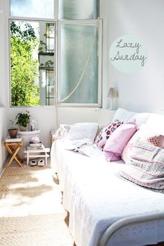 Small, cozy room. . . full of light!