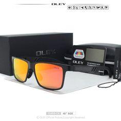 OLEY Men Polarized Sunglasses Aluminum Magnesium Sun Glasses Driving Glasses Rectangle Shades For Men masculino Male