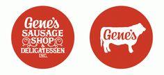 Gene's Sausage Shop by Knoed , via Behance