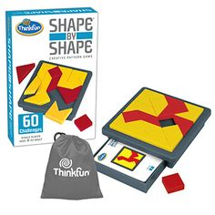 An advanced Tangram-style game. Lots of fun while exercising skills in conceptual thinking and spatial relationships. Shape By Shape | Thinkfun