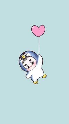 Wooow 😂 That little Kyungsoo is so cuteee 😂❤ Kyungsoo, Kaisoo, K Pop, Kpop Anime, Anime Guys, Chibi, Exo Cartoon, Character Concept, Character Design