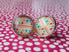 Cute studs  Indian stripes by NiteOwl15 on Etsy, €6.50