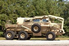 The Buffalo mine-protected clearance vehicle (MPCV) is a six-wheel heavily armoured EOD vehicle manufactured by Force Protection. - Image - Army Technology