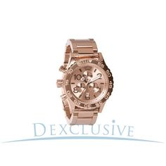 Nixon 42-20 Chronograph All Rose Gold Quartz Watch - A037897