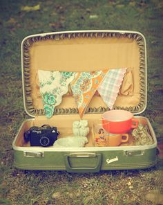 I remember these suitcases as a little girl. I love using this when dining alfresco.