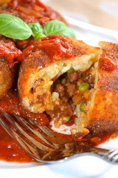Tapas, Arancini Recipe, Great Recipes, Dinner Recipes, Sicilian Recipes, Risotto Recipes, Albondigas, Middle Eastern Recipes, Relleno