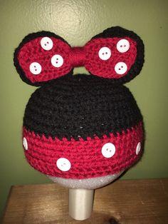 Minnie Hat-Disney Inspired Beanie-Mickey by SimpleCraftTreasures