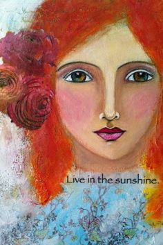 """"""" Feel the Moment"""" - Conscious living prompts and expressive painted self portraiture using pastels, pencils, and acrylic paints."""