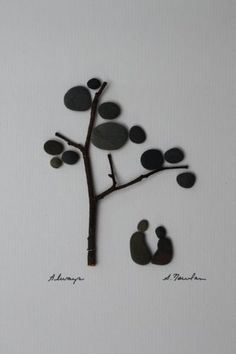 Pebbles and twigs | Art by Sharon Nowlan