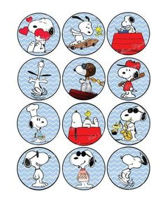 Snoopy Blue Cupcake Toppers with Bonus by CatsMeowDDesigns on Etsy Snoopy Birthday, Snoopy Party, Snoopy Love, Charlie Brown And Snoopy, Bolo Snoopy, Snoopy Wallpaper, Peanuts Snoopy, Happy Birthday Wishes, Cupcake Toppers