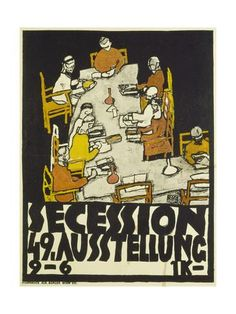 Poster for the Vienna Secession, 49th Exhibition, 1918 Gicléedruk van Egon Schiele - bij AllPosters.be
