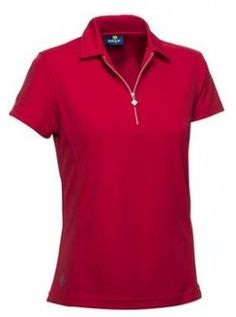 Daily Sports USA Women's Macy Cap Sleeve Polo Golf Shirt-Red