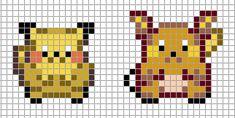 Mini Pokemon by Hama-Girl on DeviantArt Kawaii Cross Stitch, Pokemon Cross Stitch, Pixel Art Templates, Perler Bead Templates, Hama Beads Patterns, Beading Patterns, Pikachu Raichu, Pokemon Sprites, Pokemon Perler Beads