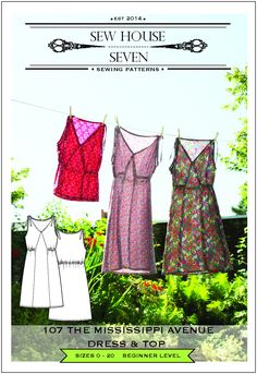 The Mississippi Avenue Dress & Top Sewing Pattern       PDF $14 or Paper $18