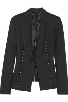 McQ Alexander McQueenHook-embellished twill blazer