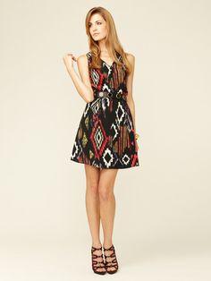 Sleeveless Pleated Keyhole Dress by Best Society on Gilt.com
