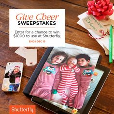 Share your favorite photo gifts and enter to win great prizes. Ends Dec 15.