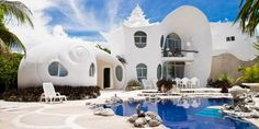 Check out this awesome listing on Airbnb: The Seashell House ~ Casa Caracol - Houses for Rent in Isla Mujeres: seashell, shell house mexico, the shell house isla mujeres Location Airbnb, Airbnb Wedding, Shell House, Airbnb Rentals, Vacation Rentals, Airbnb Accommodation, Belle Villa, Private Pool, Private Jet