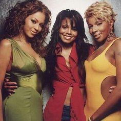 R&B/pop divas. Ashanti, Janet Jackson, and Mary J Blige