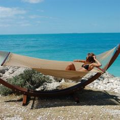 My man would love this Sandy Beach Caribbean Hammock!