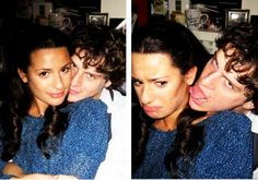 lea michele and jonathan groff backstage at spring awakening