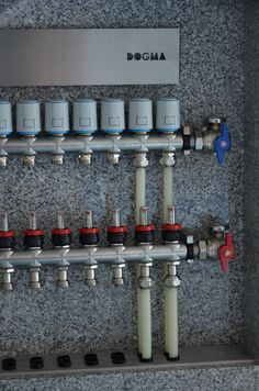 Underfloor Heating Systems, Plumbing, Mixer, Cabinets, House Ideas, House Design, Pex Plumbing, Building Homes, Armoires