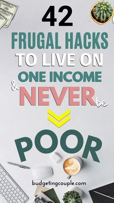 Find out how to *thrive* on a single income with these 42 frugal living hacks. Start saving money on autopilot every month with some simple financial planning and a budget. If you're tired of living p Best Money Saving Tips, Money Saving Challenge, Ways To Save Money, Saving Money, Money Tips, Money Hacks, Investing Money, Frugal Living Tips, Frugal Tips