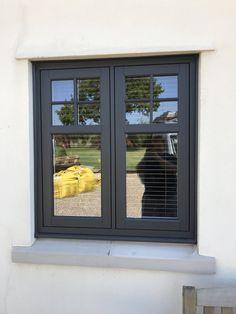 Casement Windows, Wooden Window Design, Wooden Windows, House Windows, Windows And Doors, 1930s House Exterior, Traditional Windows, House Color Schemes, Windows