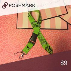 VS PINK LANYARD Brand new PINK Victoria's Secret Accessories Key & Card Holders