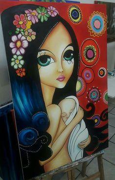 Tainara Natus art galeria ajur sp divulgador da arte Doll Painting, Painting For Kids, Fabric Painting, Painting & Drawing, Frida Art, Poster Background Design, Spirited Art, Indian Art Paintings, Arte Pop