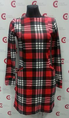 Czerwona sukienka w kratę (w kolorach Casual Collection ;))