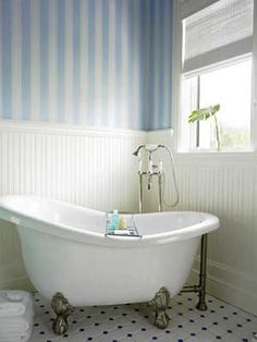 Victorian, claw foot bathtubs more popular today; love the look, the soak but not feeling the shower curtain ...