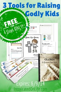 4 Day {Freebie} Tools for Raising Godly Kids ($14.85 value) - Intoxicated On Life