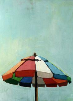 Vintage Umbrella by wrightbrainart on Etsy, $100.00