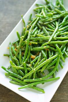 Crispy Garlic Onion Green Beans--just made these. Easy and SO delicious.