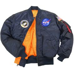 NASA MA-1 Flight Jacket | Alpha Industries  SIZE SMALL 150 BLUE 150 BLACK