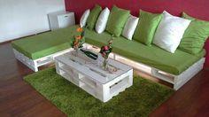 NUOVI Pallets bancali bianchi shabby 120X80 EPAL arredamento divani