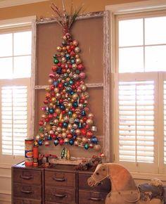 Cute idea for vintage ornaments