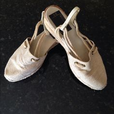 Canvas shoes Nina wedge canvas shoes- sz 8- gold Shoes Wedges