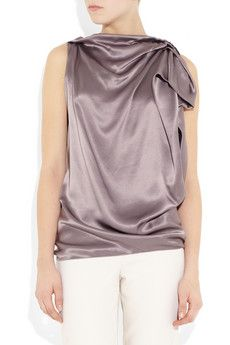 Lanvin  Silk-satin top  $1225