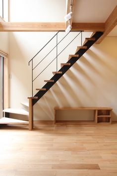 Home Stairs Design, Interior Stairs, House Design, Stairs In Living Room, House Stairs, Small Space Stairs, Victorian Living Room, Tiny House Exterior, Tiny House Loft