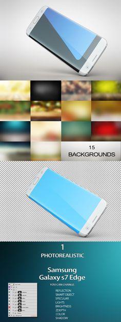 Samsung Galaxy s7Edge Gravity MockUp