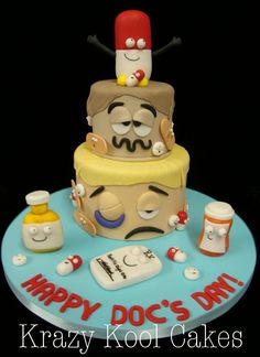 Whimsical Medical Cake Dental Cake, Medical Cake, Cakes For Men, Cakes And More, Beautiful Cakes, Amazing Cakes, Low Cost Dental Care, Doctor Cake, Teacher Cakes